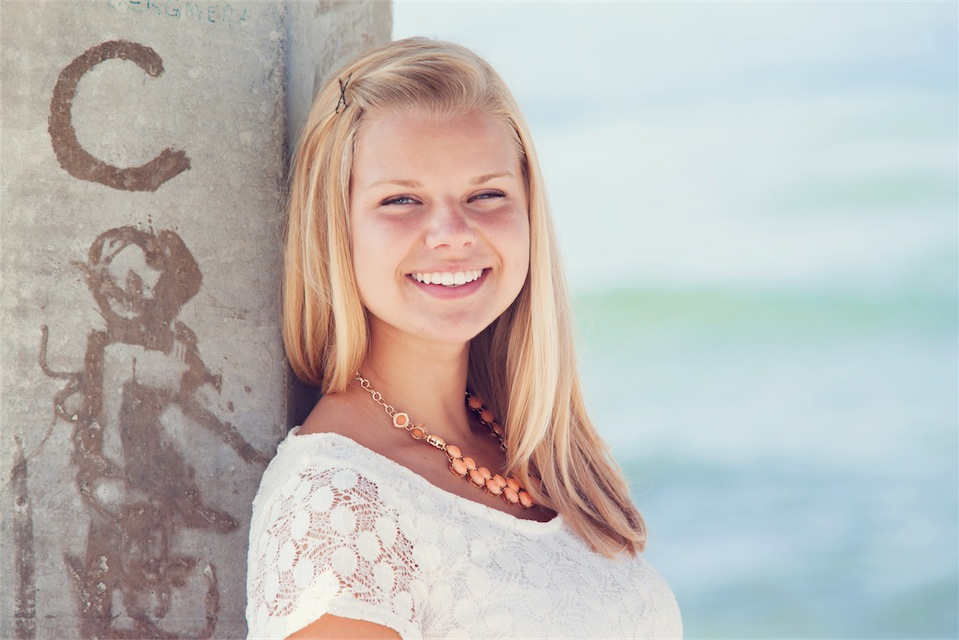Pensacola Senior Portrait Session at Portofino Resort