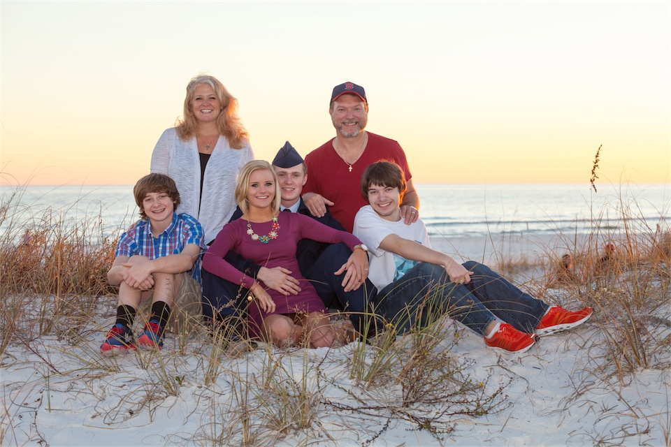 Pensacola Beach family and Engagement Session